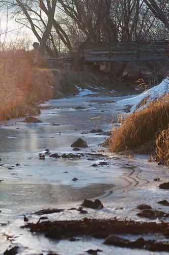 bridge sun water grass frozen stream tamronaf70300mmf456ldmacro 365photos