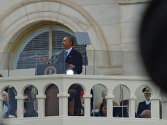 President Obama delivers his address at the 57th Presidential Inauguration, January 21, 2013