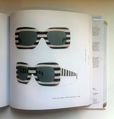 Acetate op-art sunglasses, Trifari, United States, c. 1965