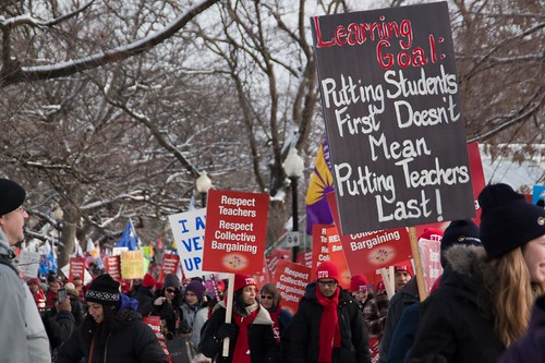 OFL and Teachers Rally in Allan Gardens