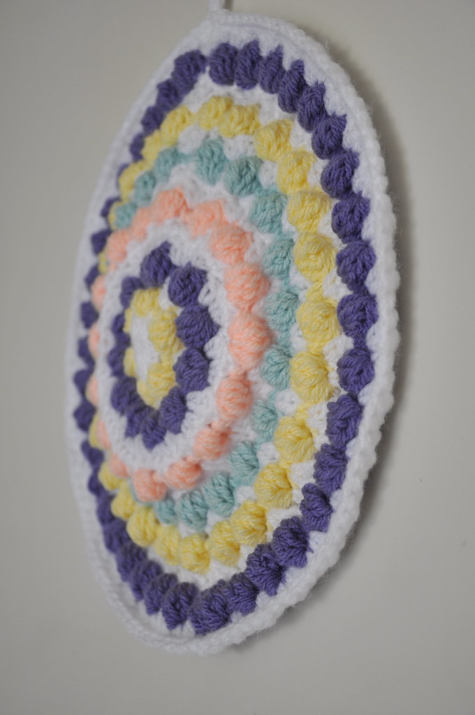 crochet bobble pot holder