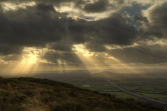 Crepuscular rays from Crook Peak