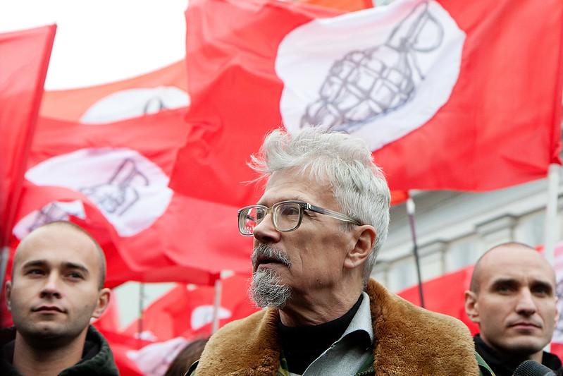 Эдуард Лимонов на Марше Антикапитализм