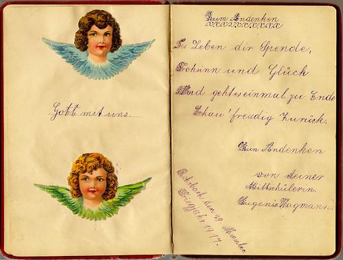 Klaras Poesiealbum 1916 Zum Andenken