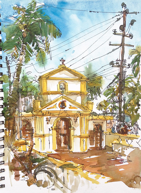 Little church in Caranzalem, Goa