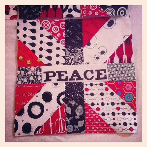 Number 5 #xplusalong done and on the design wall. by Scrappy quilts