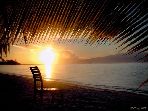 ocean sunset beach sunrise french island polynesia warm paradise lagoon palmtrees southpacific tropicalislands tahiti moorea