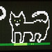 Pixel cat I drew for MrC, for a loading screen demo on the Dragon64 by Rain Rabbit