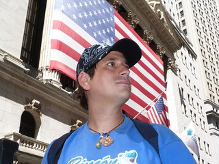Foto de Sele en Wall Street (Nueva York)