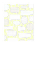 5a margarita conversation Bubbles with patterns LARGE SCALE  - A2 card size PORTRAIT or VERICAL