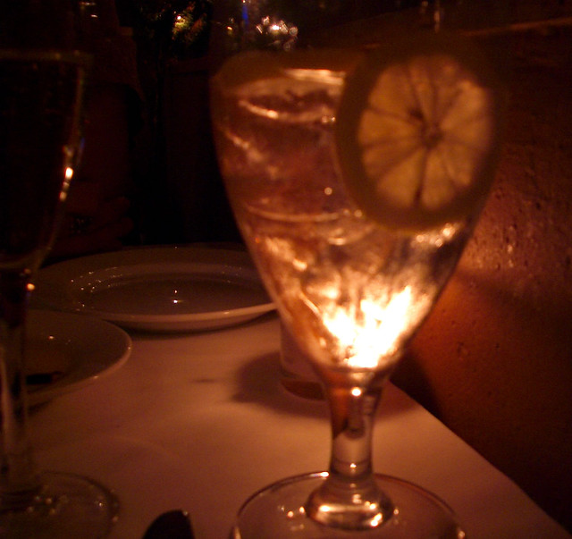 candlelight thru glass