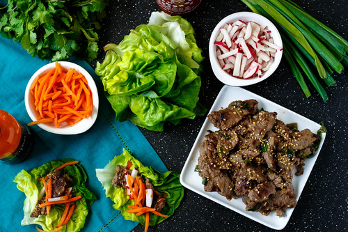 Asian Steak Lettuce Wraps