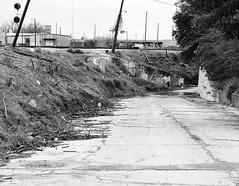 Preston St Underpass, St Charles St, Looking Northwest, Houston, Texas 1302101437BW