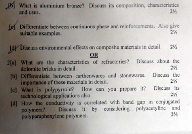 DTU Question Papers 2011 - 2 Semester - Mid Sem - Group A 2 Semester : Group B 1 Semester