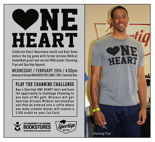 Channing Frye One Heart Shirt By Sportiqe Apparel