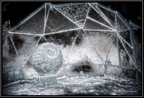 winter sculpture snow ice finland championship competition amusementpark tampere särkänniemi highquality huvipuisto jääveistos smkisa