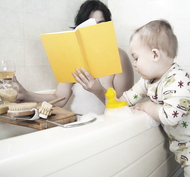 Mom In Bubble Bath Toddler Beside Tub Flickr Photo