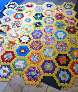 Grandmother's Flower Garden Progress