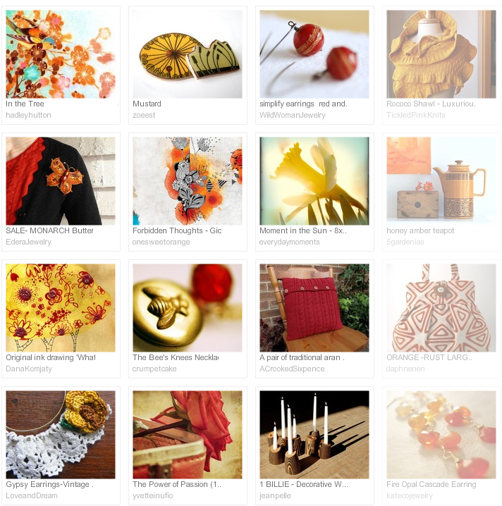 late summer evenings, Etsy treasury curated by Emma Lamb