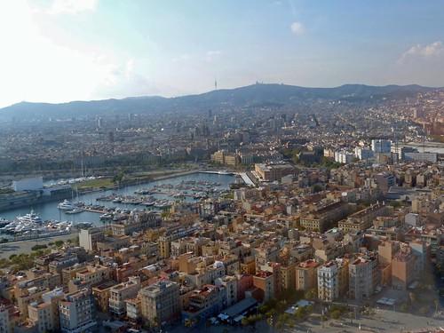 Vista aérea de Barcelona (desde un helicóptero)