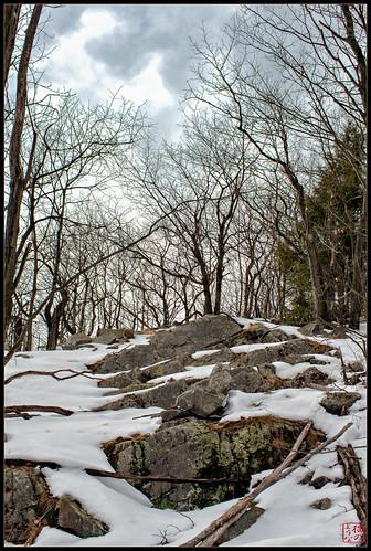 rocks unitedstates newhampshire hike hinsdale winter2012