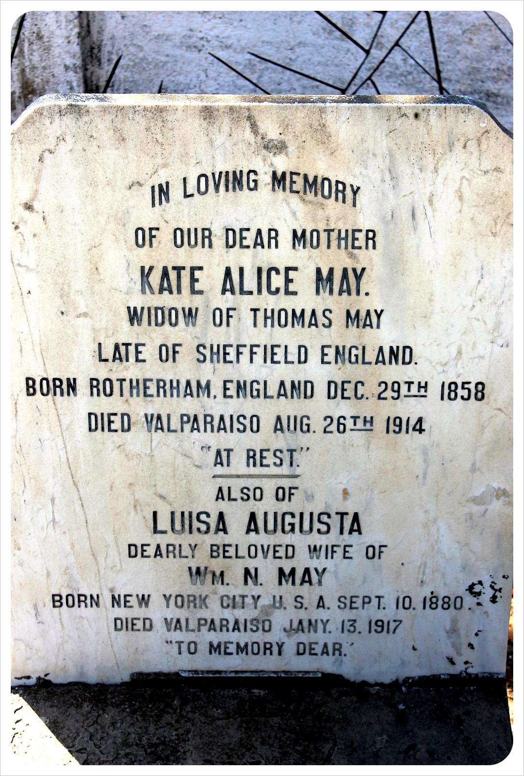 valparaiso cemetery british grave
