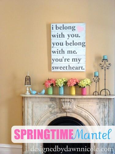 Springtime Mantel