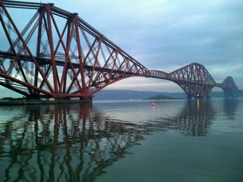 Forth Bridge from North Queensferry in Fife