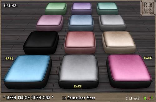 RnB Mesh Floor Cushions I - Gacha