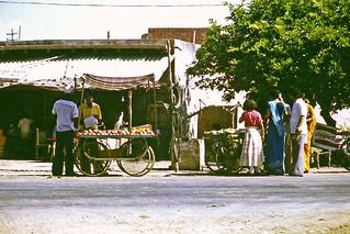 at Kosi Kalan - roadside fruit sellers