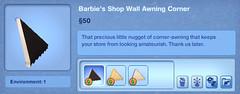 Barbie's Shop Wall Awning Corner