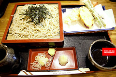 Tenzaru Soba (Cold Buckwheat Noodles With Tempura)
