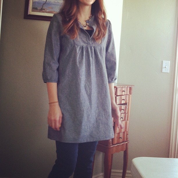 I made a tunic blahhhhh #tovatop #wiksten #shescrapfty