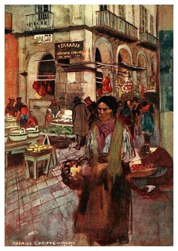 012-En la calle di Tribunaei-Naples  past and present-1905-Maurice Grieffenhagen