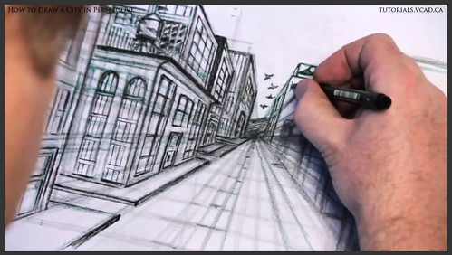 learn how to draw city buildings in perspective 031