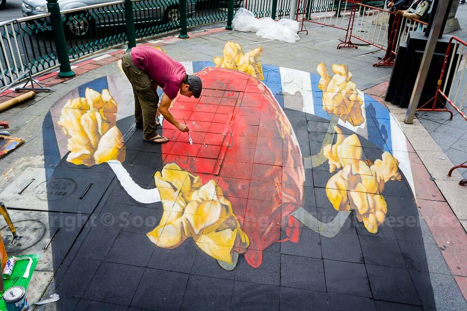 3D painting @ Living Arts Festival, Bangkok, Thailand