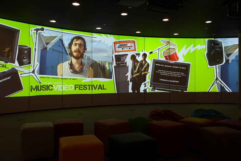 Beeba on the BBC BIG Screen