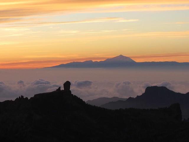 Sonnenuntergang vom Pico de las Nieves