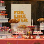 Cake and Pie Pop Display for Eat, Drink, and Get Married Event
