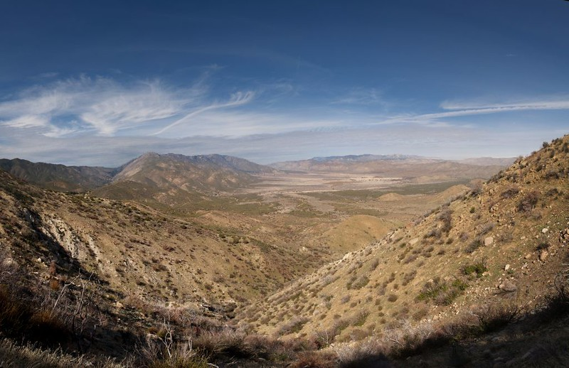 PCT view north over the San Felipe Valley