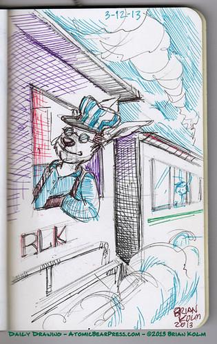 3-12-2013 Train Conductor Bunny