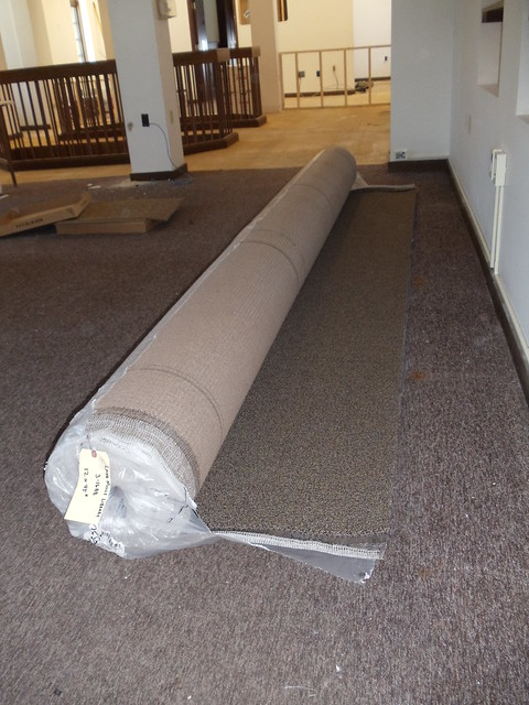 New carpeting for renovation.  Roll carpet for stairs and landings.