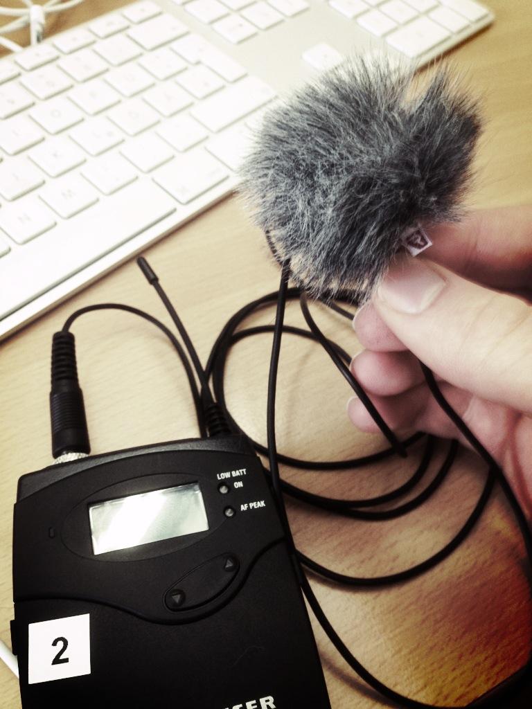 Ansteckmikrofon mit Windjammer