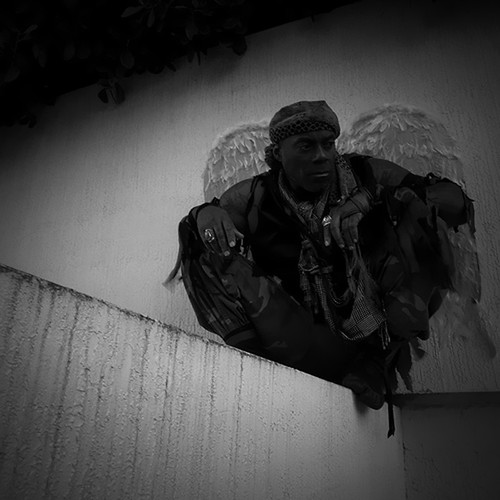 Tawk Love, in Character from I'm a Soldier Video Shoot