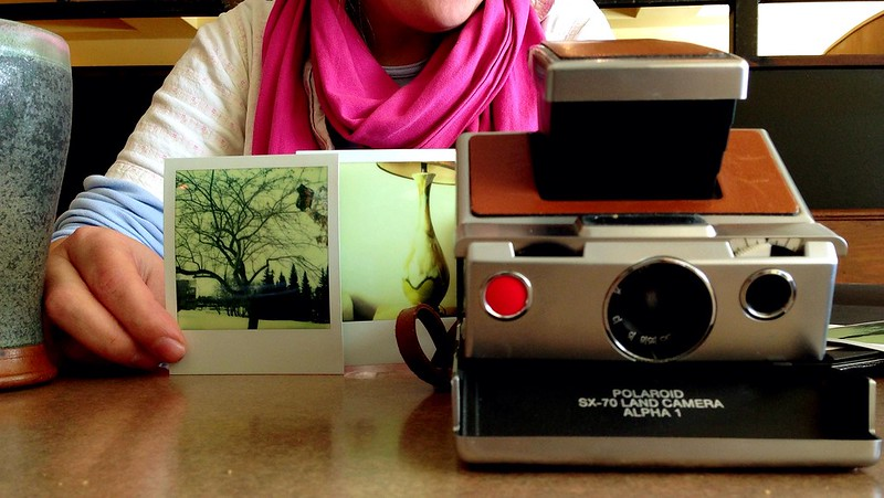 Jana and her trusty Polaroid 2