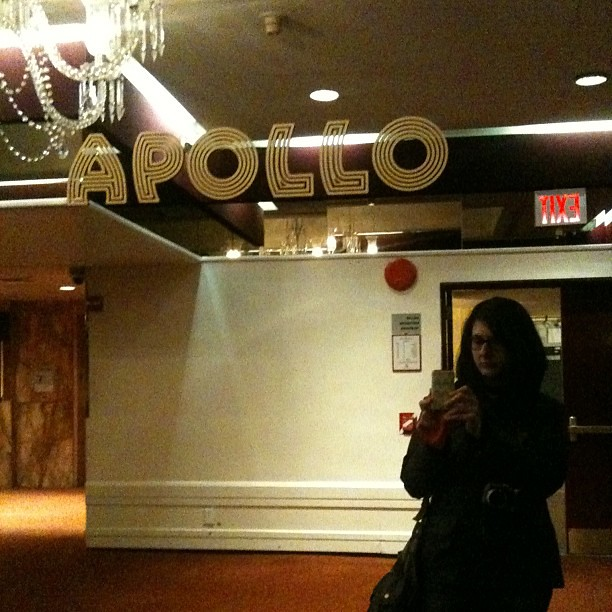 Me at the Apollo theatre