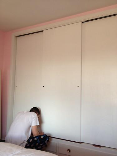 Closet Doors Painted!