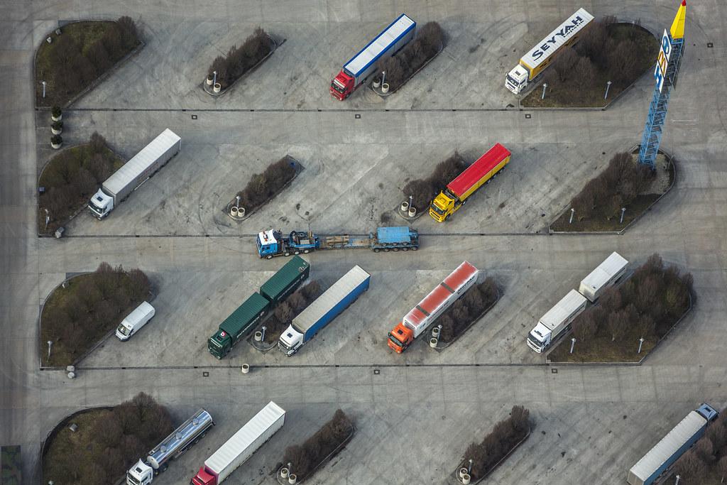 Parkplatz für LKW
