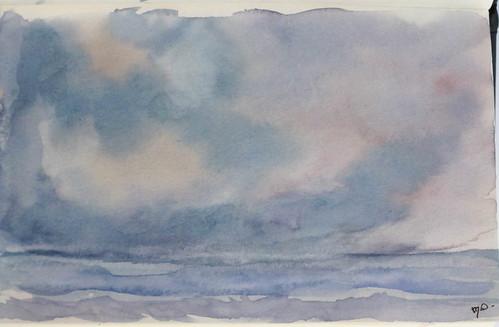 Mar y cielo de primavera
