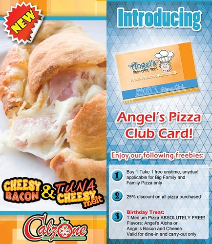 Angel's Pizza Club Card and a New Calzone Variant